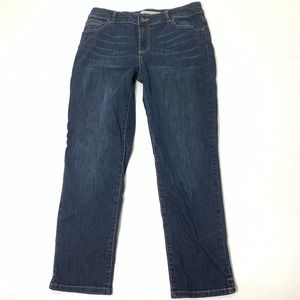 Women's Size 10 Chico's 1.5 Stretch Ankle Jeans